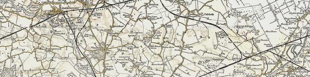 Old map of Croft in 1903