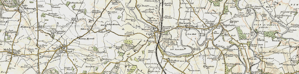 Old map of Croft-on-Tees in 1903-1904