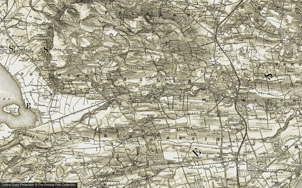 Old Map of Historic Map covering Balgothrie in 1903-1908