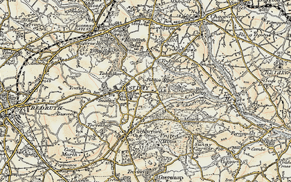 Old map of Tolgullow in 1900