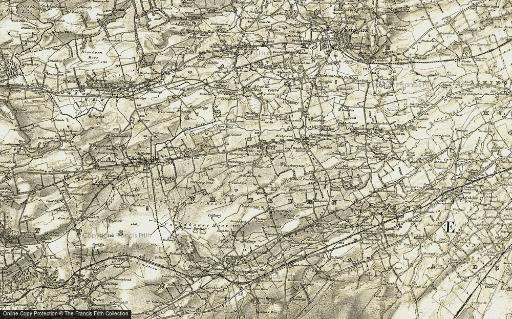 Old Map of Historic Map covering Balgornie in 1904-1905