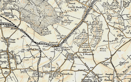 Old map of Wilton Brail in 1897-1899