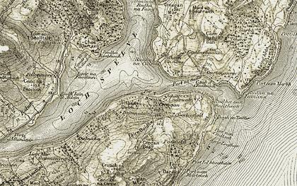 Old map of Aoineadh Mhàirtein in 1907