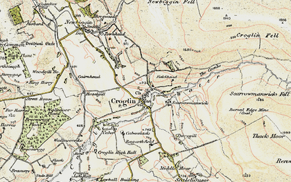 Old map of Croglin in 1901-1904