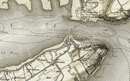 Old map of Cromarty in 1911-1912