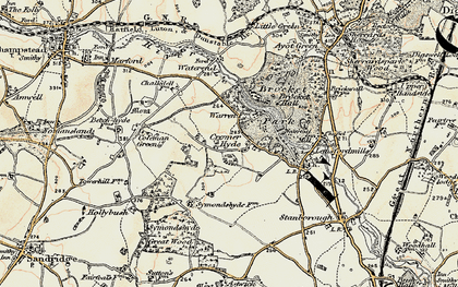 Old map of Cromer-Hyde in 1898