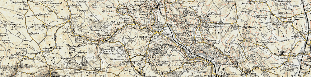 Old map of Cromford in 1902-1903
