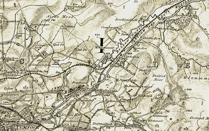 Old map of Airds Moss in 1904-1905