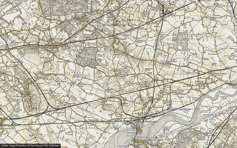 Old Map of Cronton, 1903 in 1903