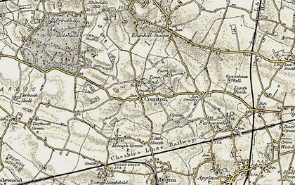 Old map of Cronton in 1903