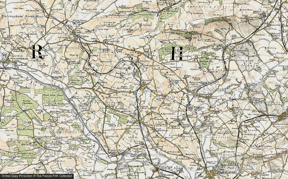 Old Map of Crook, 1901-1904 in 1901-1904