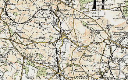 Old map of Crook in 1901-1904