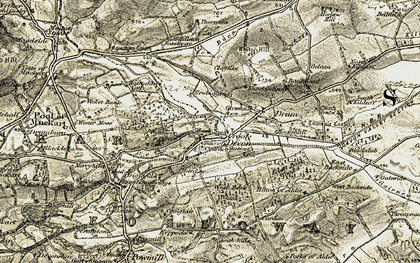 Old map of Lendrick Muir in 1904-1908
