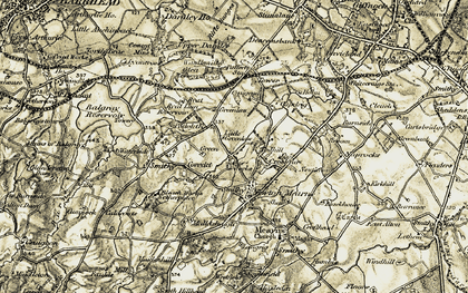 Old map of Crookfur in 1904-1905