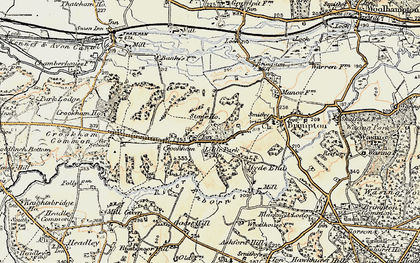 Old map of Crookham in 1897-1900