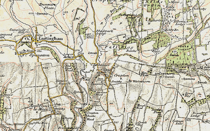 Old map of Cropton in 1903-1904