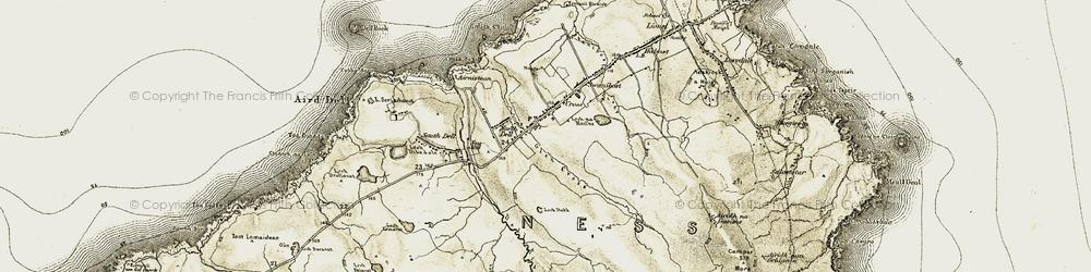 Old map of Abhainn Chrois in 1911