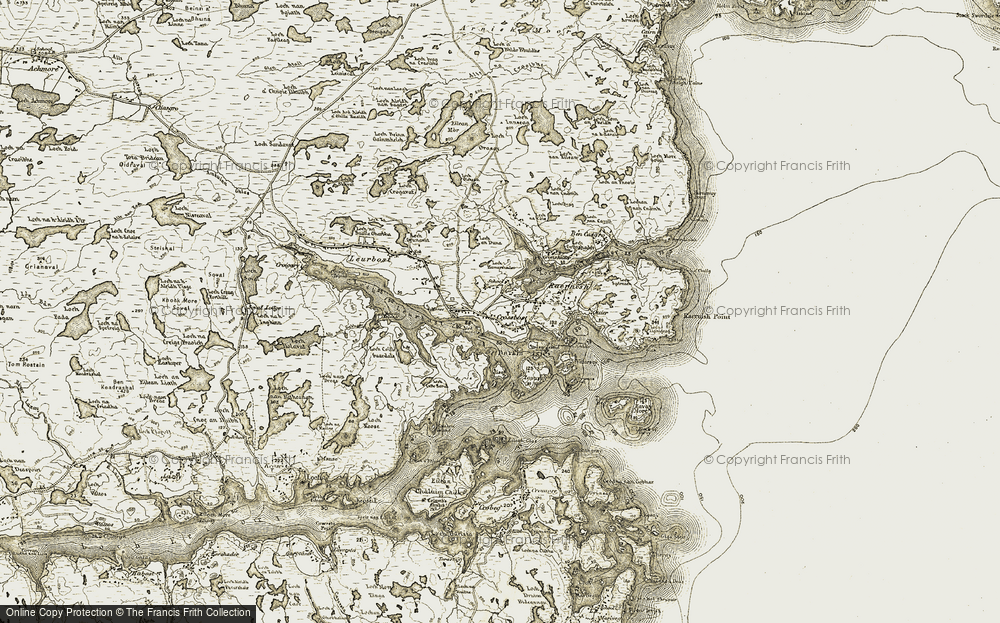 Old Map of Historic Map covering Àird Fèiltinis in 1909-1911