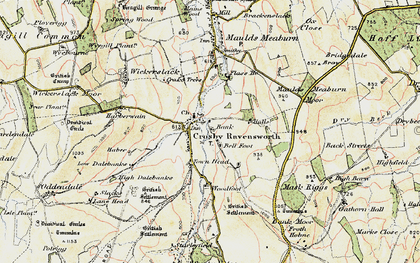Old map of Bank Moor in 1901-1904
