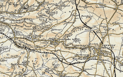 Old map of Croscombe in 1899