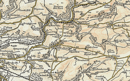 Old map of Youlden Ho in 1900