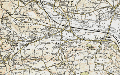 Old map of Ling Haw Hill in 1903-1904
