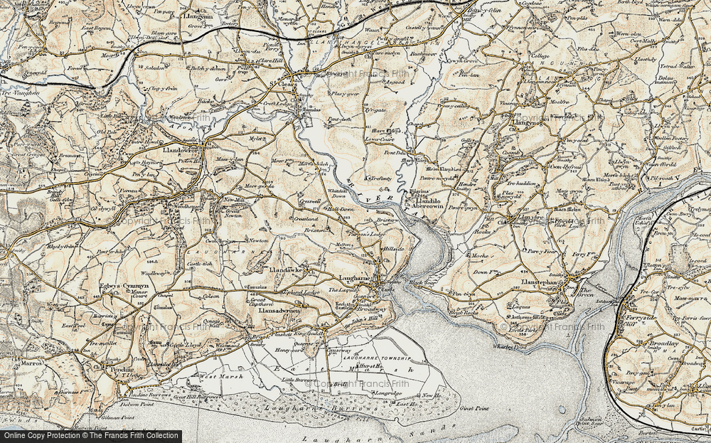 Old Map of Historic Map covering Lanfro in 1901