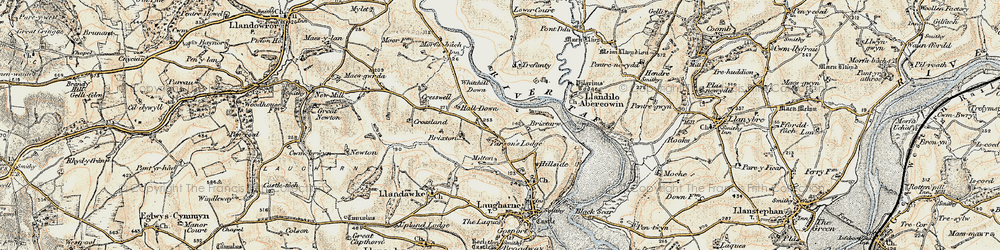 Old map of Whitehill Down in 1901