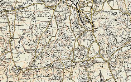 Old map of Cross Keys in 1897-1898