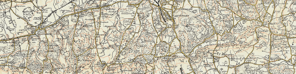 Old map of Whitley Forest in 1897-1898