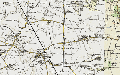 Old map of Tollerton Forest in 1903-1904