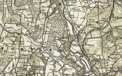 Old map of Todlaw in 1910