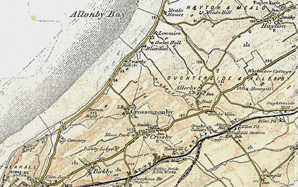 Old map of Allonby Bay in 1901-1905