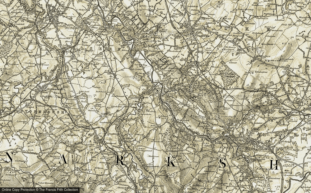 Old Map of Crossford, 1904-1905 in 1904-1905