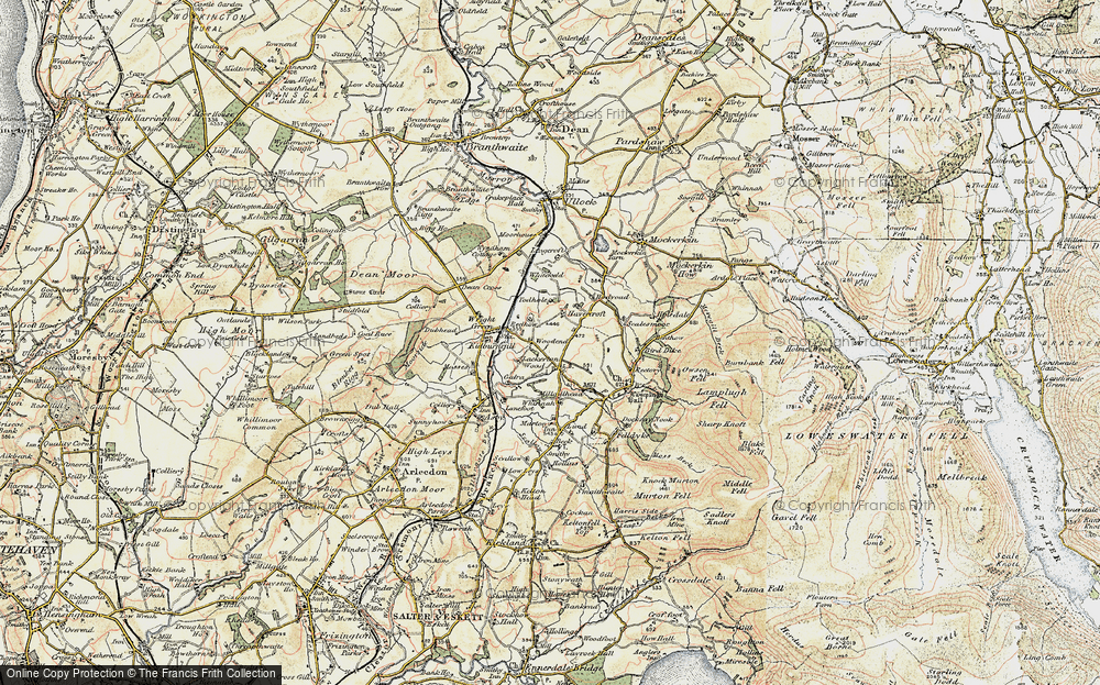 Old Map of Historic Map covering Todhole in 1901-1904