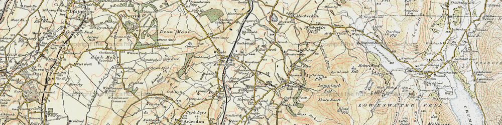 Old map of Todhole in 1901-1904