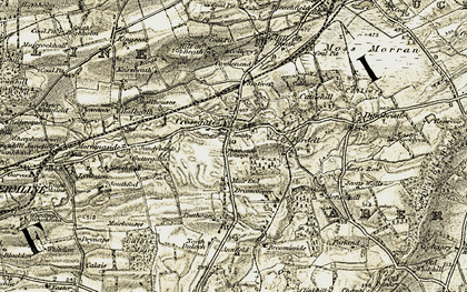 Old map of Woodlee in 1903-1906