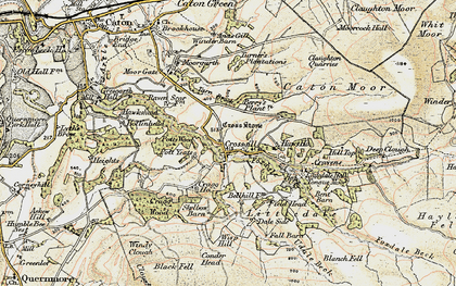 Old map of Baines Cragg in 1903-1904