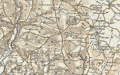 Old map of Crosshands in 1901