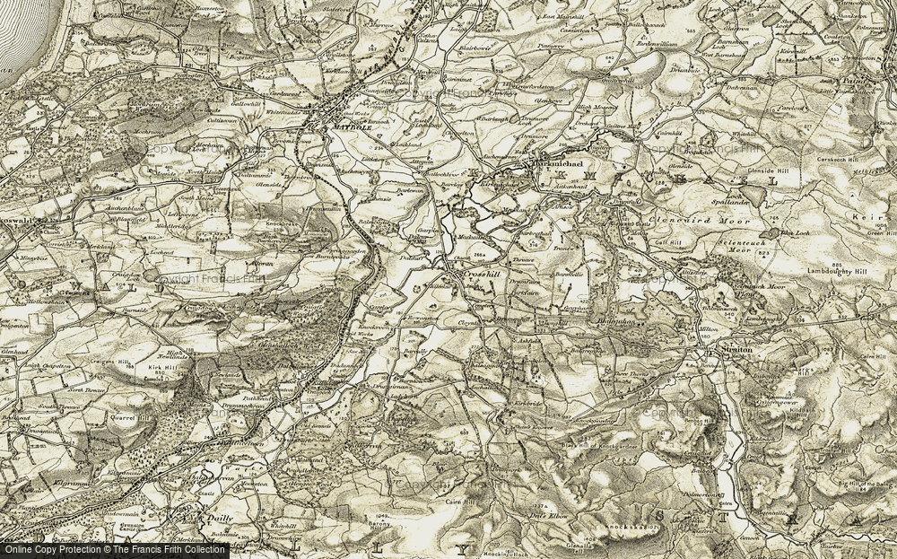 Old Map of Historic Map covering Balsaggart in 1904-1905