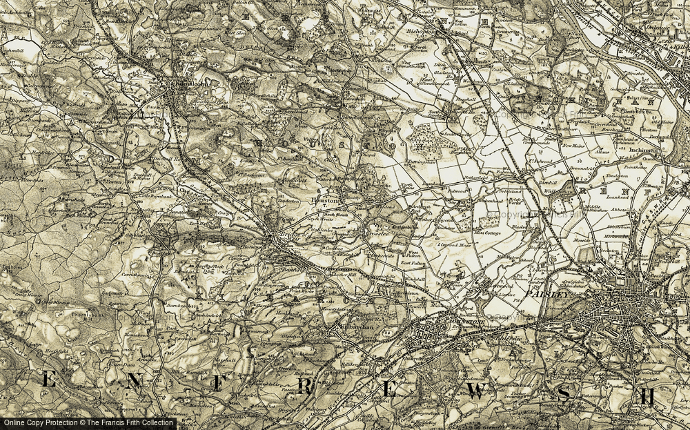 Old Map of Historic Map covering Barfillan in 1905-1906