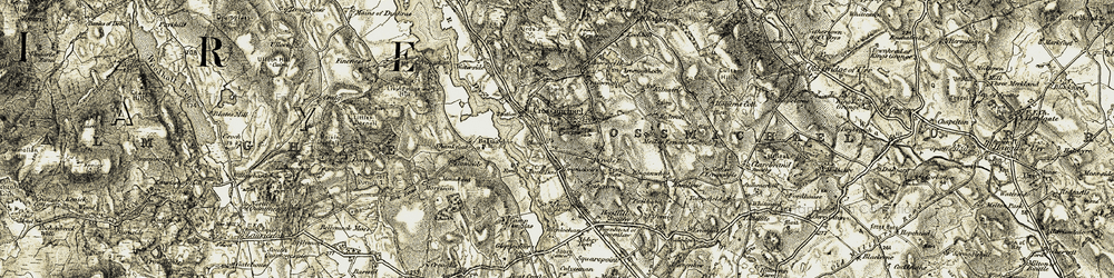 Old map of Airds in 1904-1905