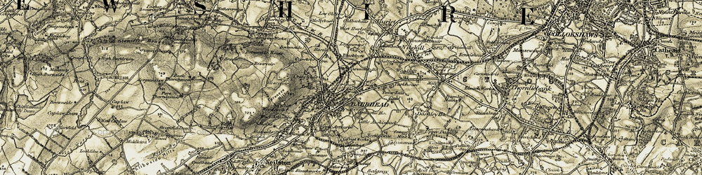 Old map of Crossmill in 1905