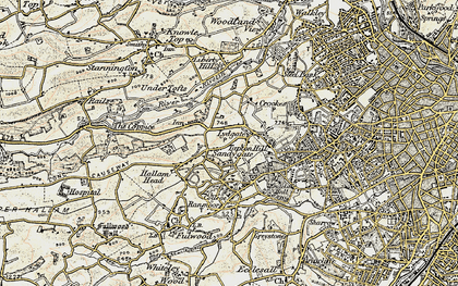 Old map of Crosspool in 1903