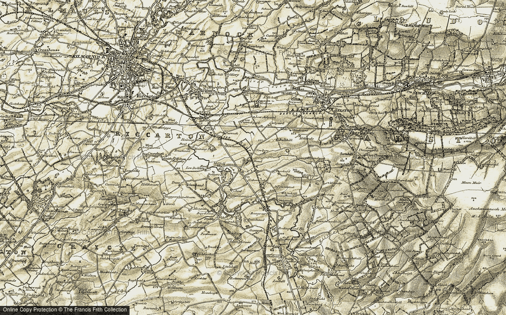 Old Map of Historic Map covering Woodhead in 1905-1906