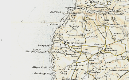Old map of Yeol Mouth in 1900