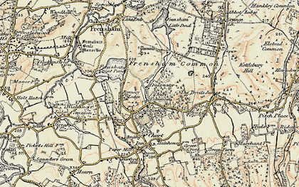 Old map of Crosswater in 1897-1909
