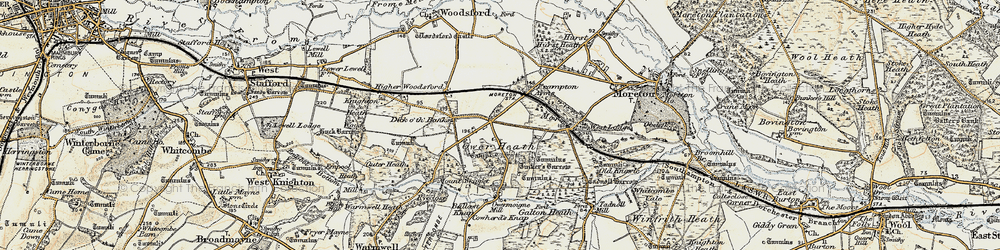 Old map of Tinker's Barrow in 1899-1909