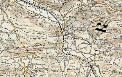 Old map of Crosswood in 1901-1903