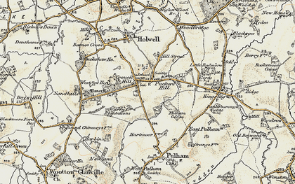 Old map of Westrow in 1899
